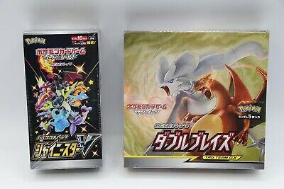 1 BOX EACH Pokemon Card Shiny Star V & Double Blaze Japanese NEW DHL from Japan