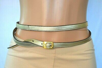 FENDI Double Wrap Leather Belt with Gold Hardware Belt 320SRO