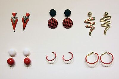Group Of 6 Costumes (Vintage Clair's red earrings group of)