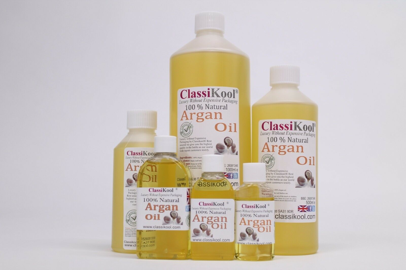 Classikool 100% Pure Natural Moroccan Argan Oil for Beauty Skin & Hair Care