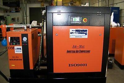 Air-max 25hp. New Industrial Rotary Screw Compressor Wdryerfilters120 Tank