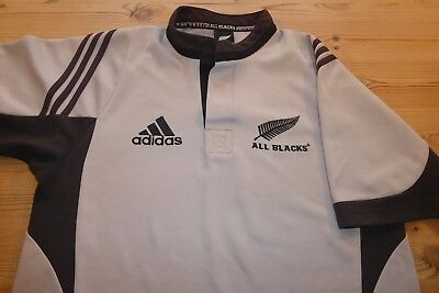 NEW ZEALAND ALL BLACKS adidas RUGBY FOOTBALL UNION JERSEY SHIRT TOP SMALL 1730491626329