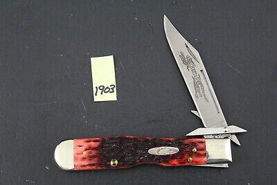 Case XX 2003 6111 1/2 Red Bone Cheetah Pocket Knife 1903