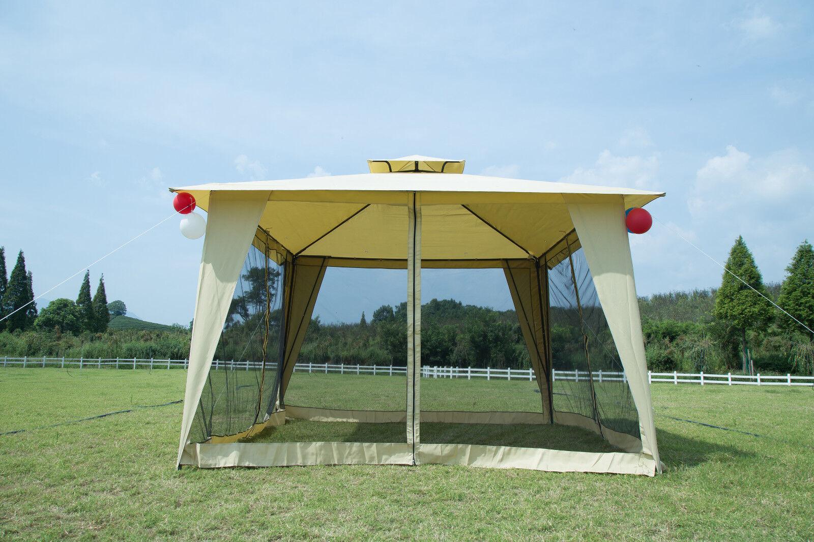 Outdoor Patio Metal Gazebo 12x12 Party Tent Garden 2-tier Ya