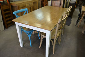 French Provincial Country Style OAK Dining Table With White Legs 180x90 EBay