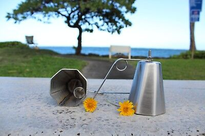 3 OCTAGON ULUA TREVALLY fishing BELLS, 304 STAINLESS STEEL, LOUD & HIGH PITCH