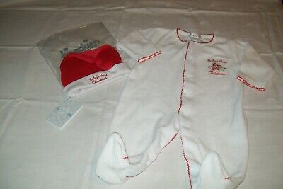 Baby girls / boys velour 'Baby's First Christmas' from Kissy Kissy 3-6 months