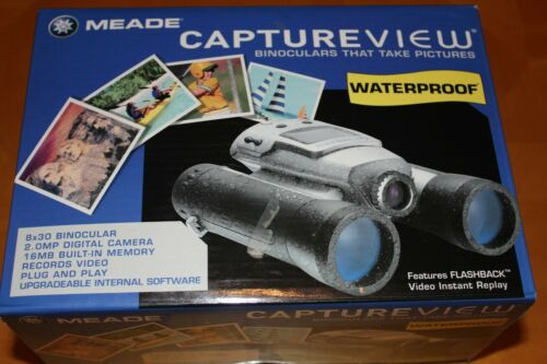 NIB MEADE CAPTUREVIEW wtr proof binoculars digital camera(records video) CVB1009