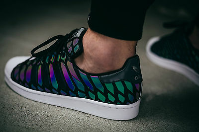 detailed pictures 4a066 01a68 ... Adidas Superstar Black Snack Xeno Pack Women s Girls Trainers All Sizes  ...