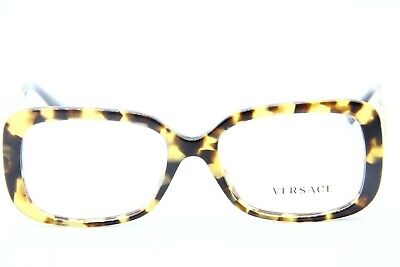 Neu Versace Model 3241 988 Schildplatt Brille Echt Fassung Rx 54-17-140