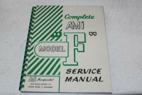 "AMI Model ""F"" Jukebox Service Maintenance Manual - used"