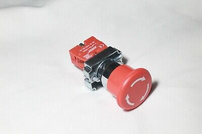 New 1x Heavy Duty 22mm Red Mushroom Emergency Stop Button Switch E-stop 1 Nc