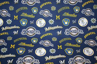 MILWAUKEE BREWERS I - THE BREW CREW  MLB -  100% COTTON FABRIC