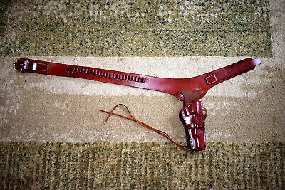 Triple K 114-15 RH Western Holster Rig Walnut for SA 5.5 inch Colt, Ruger