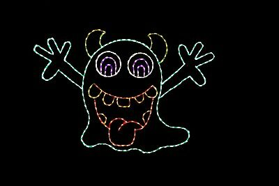 Halloween Light Show Animals (Animated Baboo Goblin Halloween LED light wire frame display decoration)