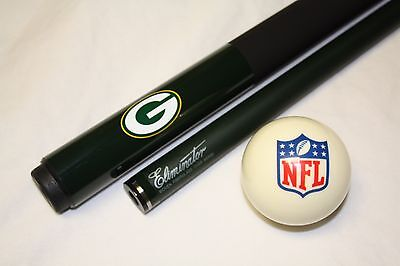 (NFL Green Bay PACKERS Billiard Pool Cue Stick & NFL Logo Cue Ball  FREE SHIPPING)