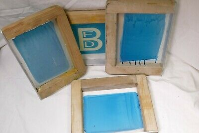 4 8. X 11 Wood Silk Screen Frames For Caps With Mesh 4 Frames