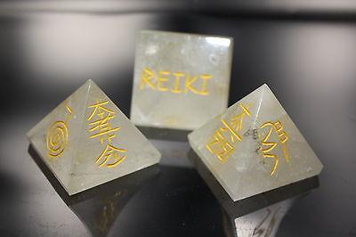 Reiki Steine Edelstein Pyramide XL Bergkristall Energie