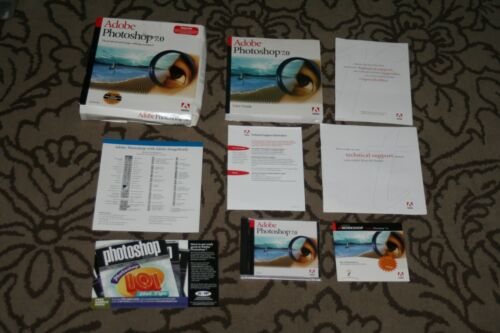 Adobe PhotoShop 7.0 Upgrade Windows with Serial Number & Free Video Workshop CD