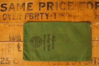 1920s Style Purses, Flapper Bags, Handbags 1920's-1930's Canvas Melbourne Savings Bank Bag Melbourne Iowa $28.00 AT vintagedancer.com
