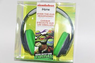 Ihome Ekids Nickelodeon Teenage Mutant Ninja Turles Headphones W Microphone New