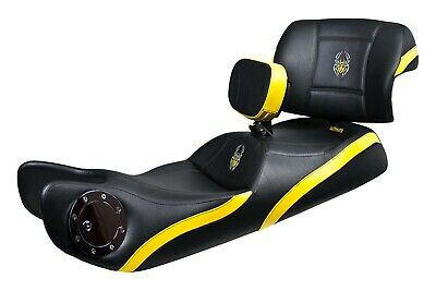 Ultimate Midrider Seat - Side Yellow Inlays with Logos - Fuel Door - 2010 - 2019