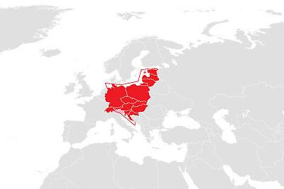 """Elektronische Seekarte """"Europe Central"""" (Format 3) für B&G, Lowrance & Simrad"""