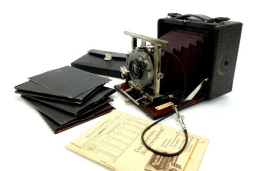 Krügener Frankfurt Folding Camera 13566 Extra Rapid Aplanat Catalogue No? ja044