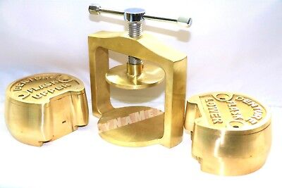 Premium Dental Laboratory Single Lab Press Compress Wtwo Brass Denture Flask