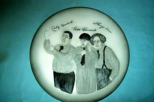 1985 Three Stooges Plate from Expressive Designs Great Entertainer Series