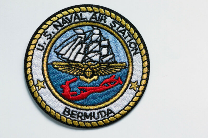 "US Navy NAS Naval Air Station Bermuda 3"" Round Patch"