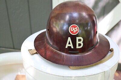 Vintage Msa Type K Fiberglass Skullgard Hard Hat Uss Ab Steel American Bridge