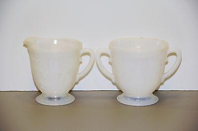 One American Sweetheart Monax Cream & Sugar Set - MacBeth Evans Glass