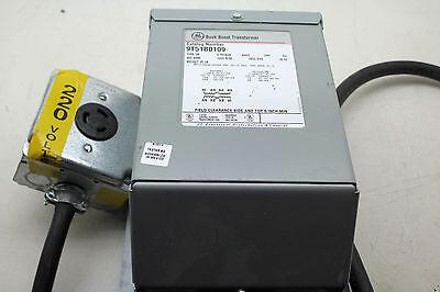 General Electric Buck Boost Transformer 9t51b0109 Type Qb 1ph 60hz W 220 Plug