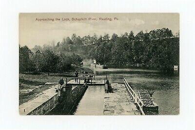 Postcard RPPC Reading PA Schuylkill River Canal