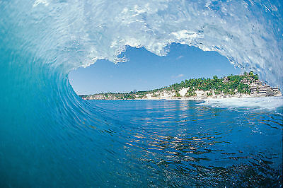 """Indonesia Empty Wave 8x12"""" Photo by Pete Frieden"""