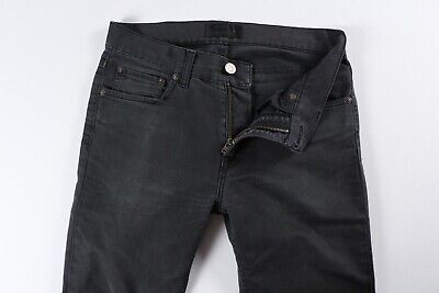 Acne Studios Mens Ace Ups Black Stretch Denim Jeans 29 x 31 $230