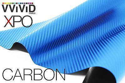 VViViD Blue Dry Carbon Fiber car wrap vinyl 6ft x 5ft decal 3mil film plane boat