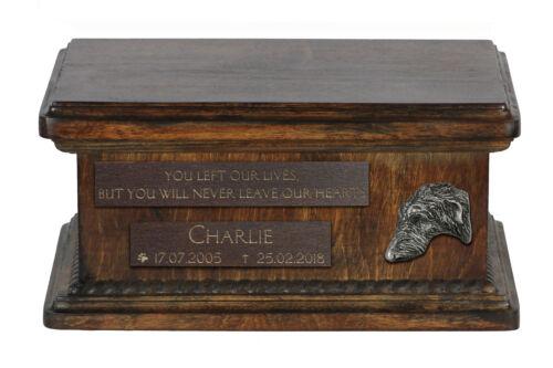 Deerhound, dog, exclusive urn with dog, type 2 Art Dog, CA