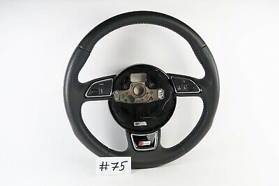 AUDI S LINE A4 A5 Q5 LEATHER/PERFORATED STEERING WHEEL #75
