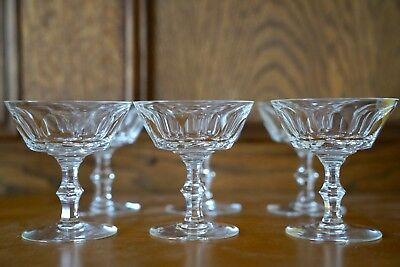"6 Waterford Irish Crystal Sheila 4 1/2""  Champagne/Sorbet Glass Stemware Glasses"
