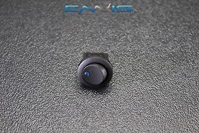 Round Rocker Switch 34 Mount Hole 16 Amp 12v 3 Pin Blue Led Toggle Ibrrsb