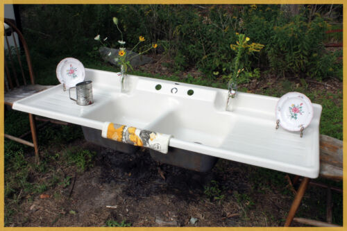 SIX FOOT! Crane Antique Farmhouse Kitchen Farm Vintage Sink