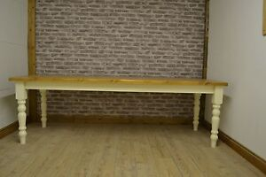 8ft x 3ft 10 seater solid pine farmhouse dining table for 10 seater farmhouse table