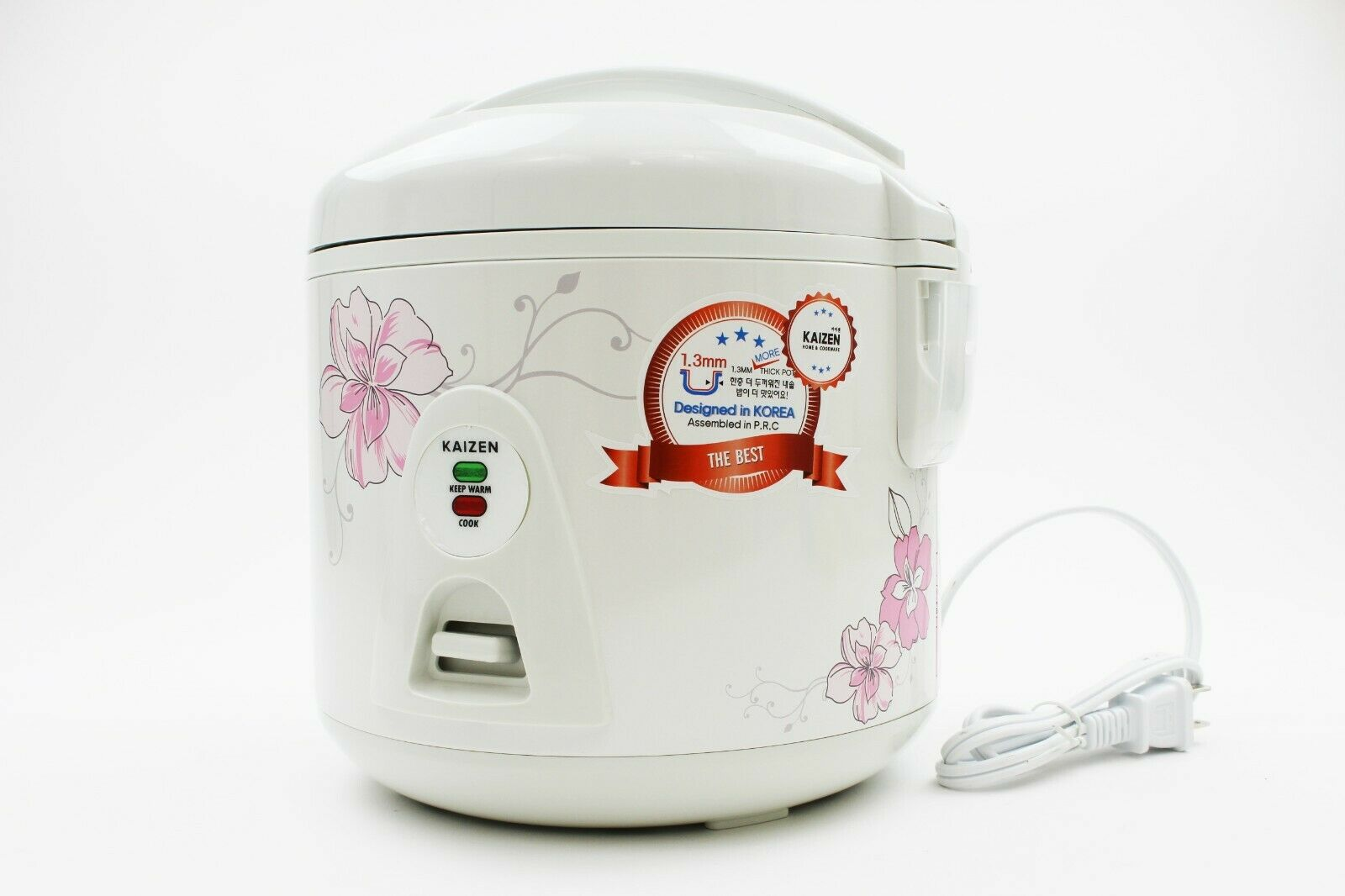 KAIZEN Electric Rice Cooker 4 Cup 6 Cup 10 Cup with Food Ste
