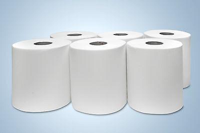 6 Handtuchrollen 21 cm geeignet für Tork H1 - 140 m Rollen 2 lagig Papierrollen
