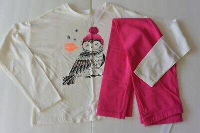 White Owl Girl (Gymboree girls 10/12 White Owl LS Top & Pink Leggings)