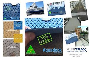 Cork Boat Decking Perth WA, UV resistant, stain resistant, anti-slip, West Perth Perth City Area Preview