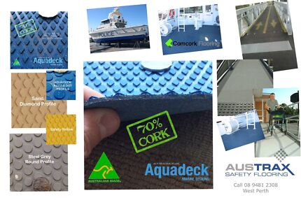 Cork Boat Decking Perth WA, UV resistant, stain resistant, anti-slip,