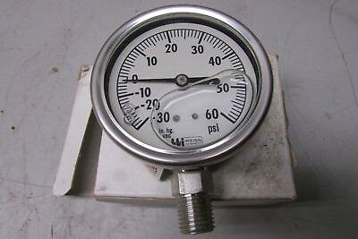 Weiss Lf25s-2 Ammonia Gauge -30-0-60 Psi Liquid Filled 14 Npt Lower Conn.